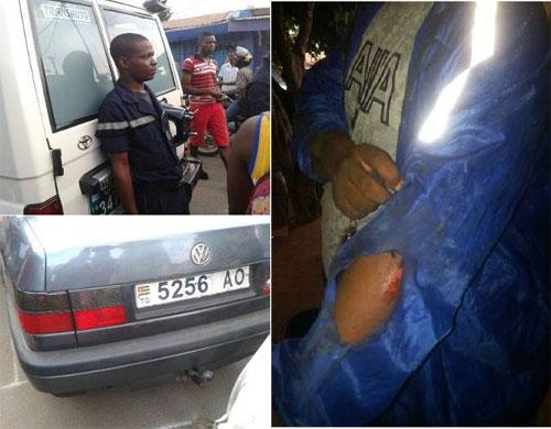 Dans leur traque abusive des vendeurs de carburants frelatés, des policiers irresponsables et ultra-zélés togolais blessent deux personnes à Lomé | Photos : La Nouvelle