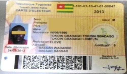 Le fichier électoral du Togo