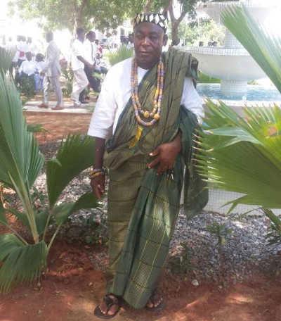 Togui Kodjo Akpabe VI que le préfet du Golfe Kofi Mélébou tenter de remplacer illégalement par un autre | Photo : D.B.-Z. / FB