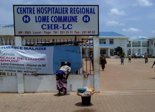 CHR Lomé Commune, ou Hôpital Bon Secour, géré depuis 7 ans moins qu'une épicerie villageoise par le sieur Yakoubou Sadicou, baigne carrément dans un insalubrité dégoûtante | Photo Archive
