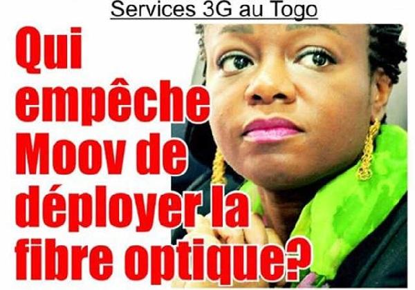 La ministre togolaise des Postes et de l'Économie numérique, Cina Lawson | Extrait de la Une de L'Alternative No.590 du 14/02/2017