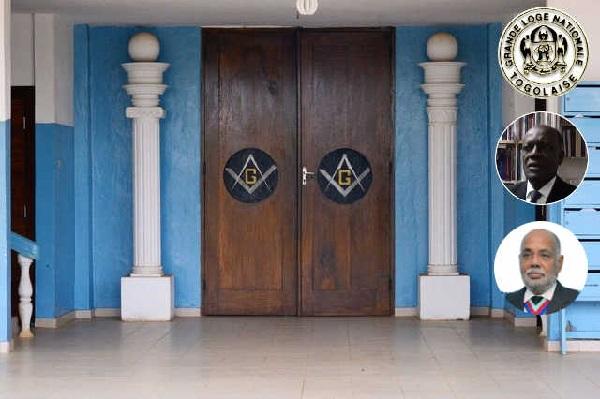 Le Temple Emmanuel Kotso Nathaniels de la Grande Loge Nationale Togolaise (GLNT) à Djidjolé, Lomé, Togo. Insertion : William Bolouvi (m) et Roggy Pass (b) | Infog : 27avril.com / GLNT