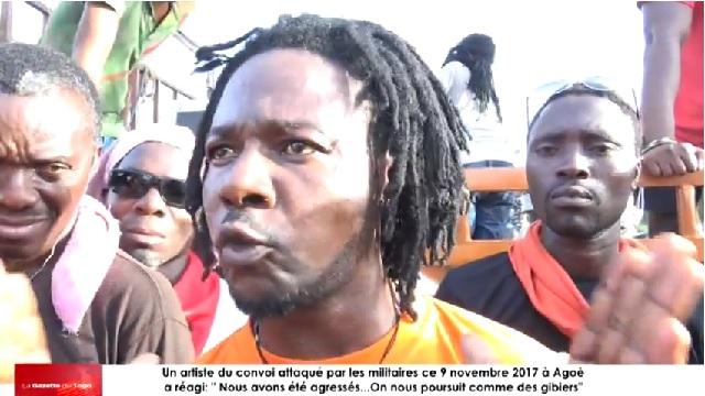 Togo : VIDEO / « Nous avons été agressés…On nous poursuit comme des gibiers », réagissait un artiste du convoi