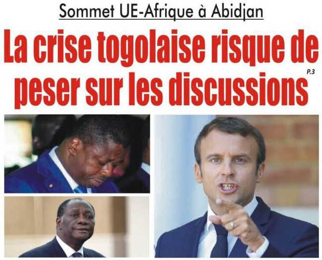 Sommet UE-Afrique à Abidjan : La crise togolaise risque de peser sur les discussions