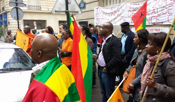 Togo, Une Dictature Oubliée : Manif de la diaspora togolaise au Canada le 4 novembre 2017 à Ottawa.