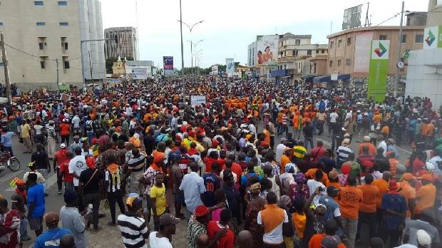 Togo: manifestations sur l'ensemble du territoire