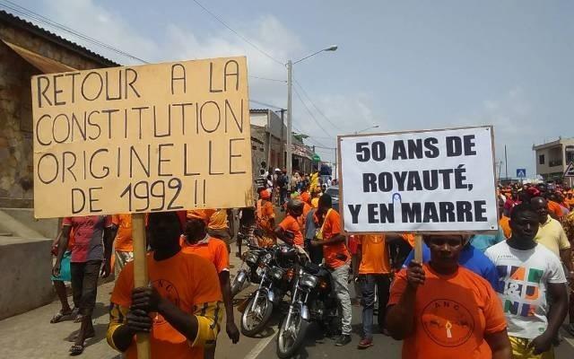 L'opposition encore dans les rues pour exiger le départ de Faure