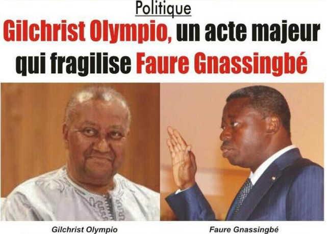 Togo : Gilchrist Olympio, un acte majeur qui fragilise Faure Gnassingbé