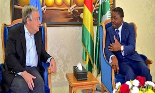 ONU : Entretien Faure Gnassingbé/Antonio Guterres à Lomé, la crise togolaise au menu des discussions
