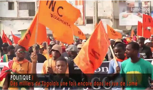 Togo : VIDEO / Des milliers de Togolais une fois encore dans les rue de Lomé