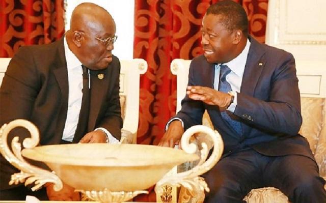 Coopération Togo-Ghana : Faure Gnassingbé chez son homologue Nana Akufo-Addo