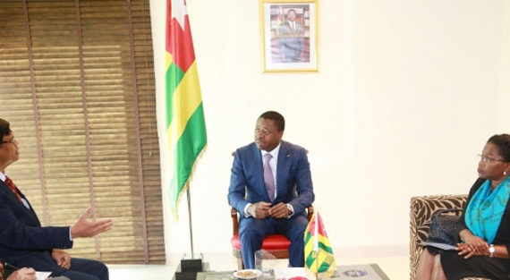 Togo / Faure Gnassingbé  à New Delhi à la Conférence pour l'Alliance Solaire Internationale
