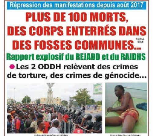 Le ridicule continue au Togo : Les Journalistes Jérôme Sossou du « Triangle des Enjeux » et Médard Amétépé de « Liberté » accusés par le SRI d'« avoir plagié » le rapport du Rejadd !