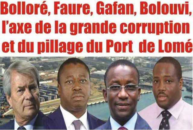 Togo Enquête exclusive : Bolloré, Faure, Gafan, Bolouvi, l'axe de la grande corruption et du pillage du Port Autonome de Lomé