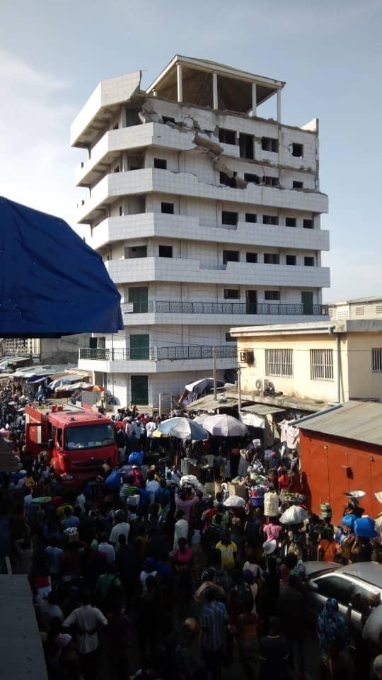 Togo : Cinq morts dans l'effondrement d'un immeuble au grand marché de Lomé