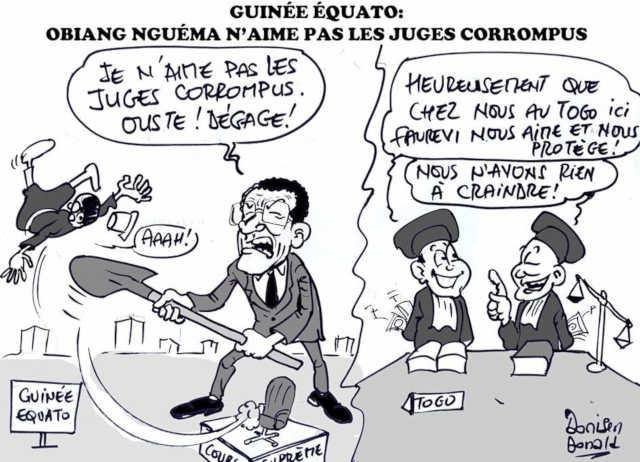 Echo d'ici et d'ailleurs : Obiang Nguema a démis de ses fonctions le président de la Cour suprême