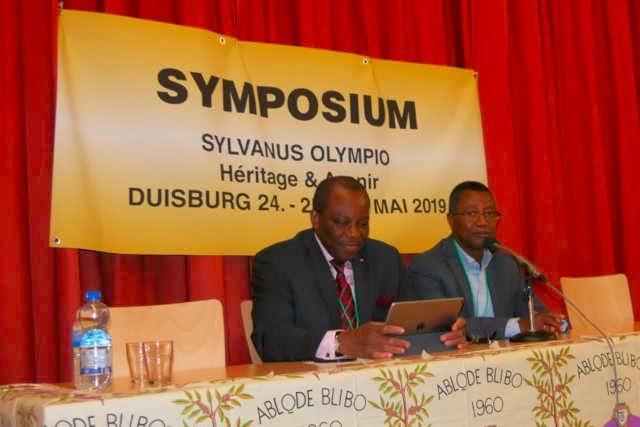 Ouverture du Symposium Sylvanus Olympio à Duisbourg, Allemagne, 25 mai 2019 . Photo : PA