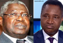 Koffi Yamgname et François Akila-Esso Boko
