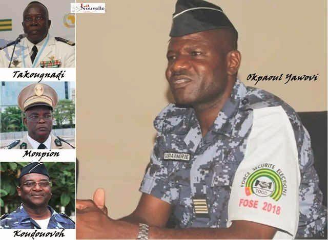 Quelques « hauts » gradés de la Police Nationale Togolaise, une institution qui a établit le racket des citoyens comme mode de gouvernance | Infog : La Nouvelle