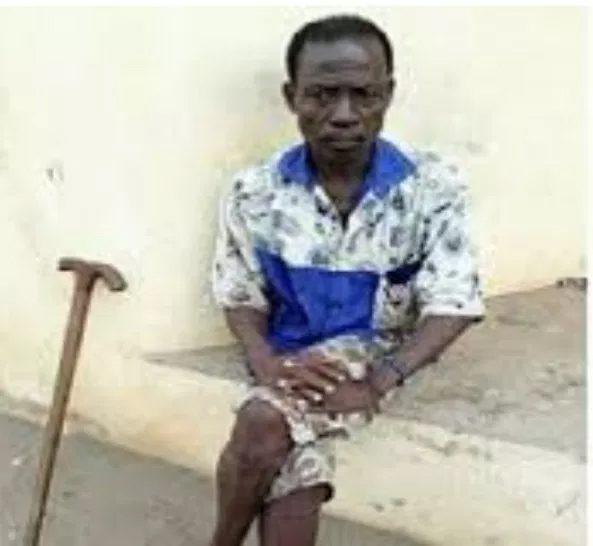 l'acteur de théâtre Agbokou-Ahade Kokou Armand, connu sous le nom d'artiste d'«Ousmane» | Photo : Fraternité