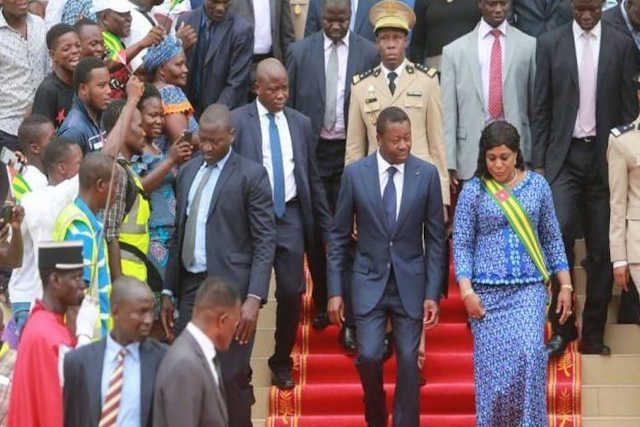 Le président togolais Faure Gnassingbé et sa présidente de l'Assemblée nationale Chantal Yawa D. Tsegan | Photo : DR