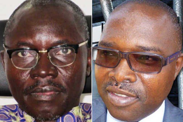 Le président de la HAPLUCIA Essohana Wiyao (g) et le juge véreux Kodjo Gnambi Garba | Infog : 27avril.com