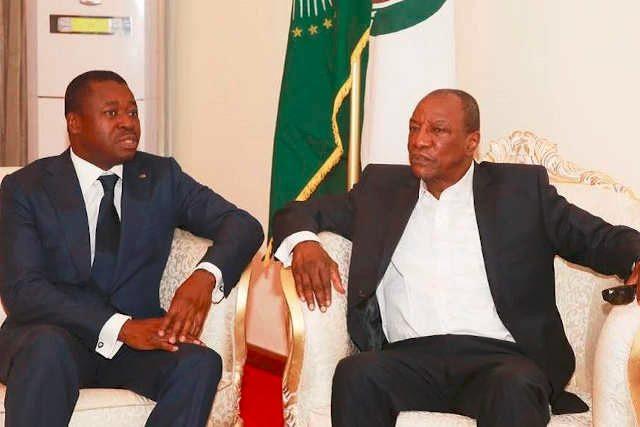 Les sieurs Faure Gnassingbé (g) et Alpha Condé | Photo : DR