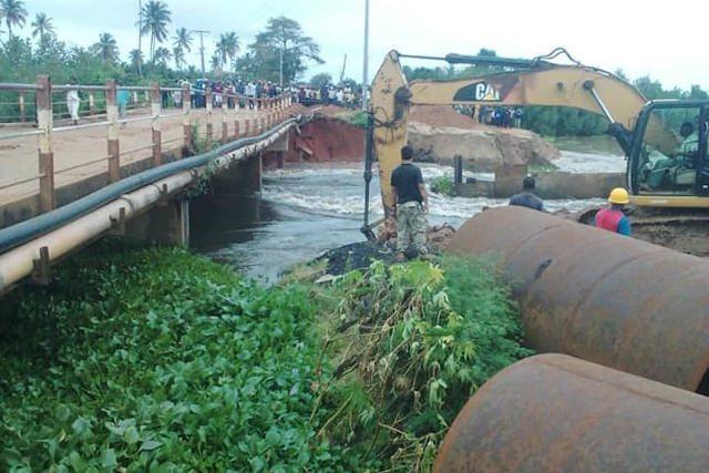 Rsique d'effondrement du Pont de Zébé à Aného (Sud-Est du Togo) | Photo : FK/DR