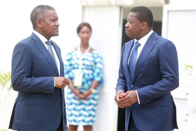 Faure Gnassingbé et Aliko Dangote
