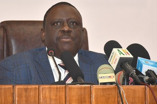 Louis Vlavonou, président de l'Assemblée nationale du Bénin.