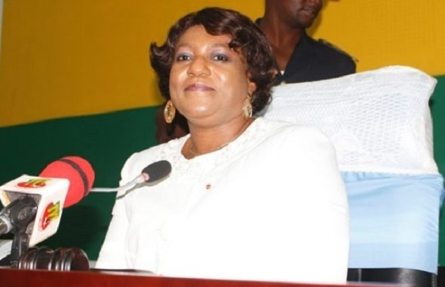 Mme Yawa Djigbodi Tsegan, présidente de l'Assemblée nationale du Togo.