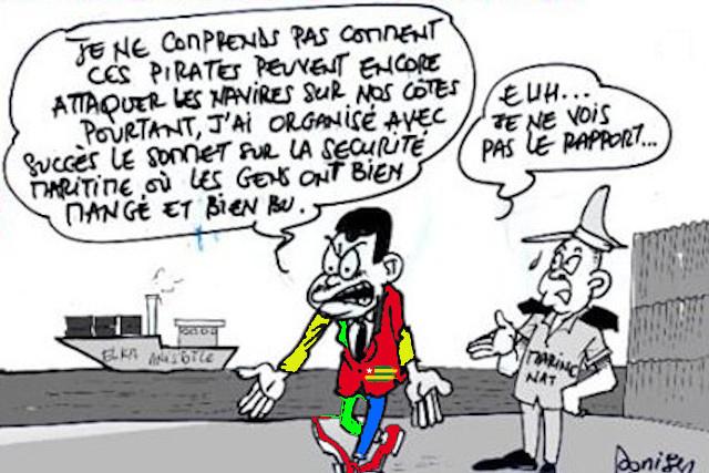 A partir d'une caricature originale de Donisen Donald (Liberté)