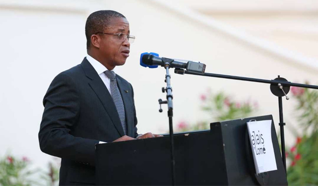Le ministre Kossivi Egbetonyo lors de la cérémonie.