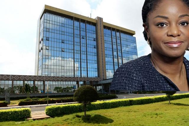 La ministre des Postes et de l'Économie numérique CIna Lawson