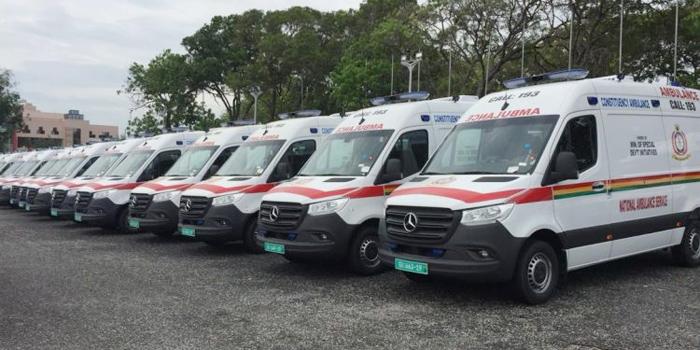 Vue des ambulances au Ghana