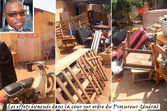 Le procureur véreux Gnambi Garba Kodjo (insertion, haut, gauche) dans ses œuvres | Infog : La Nouvelle