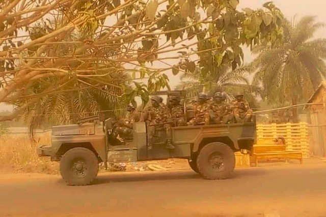 La soldatesque de Faure Gnassingbé qui terrorise lâchement les populations à bout de souffle dans le Tchaoudjo et l'Assoli dans le centre-nord du Togo | Photo : DR