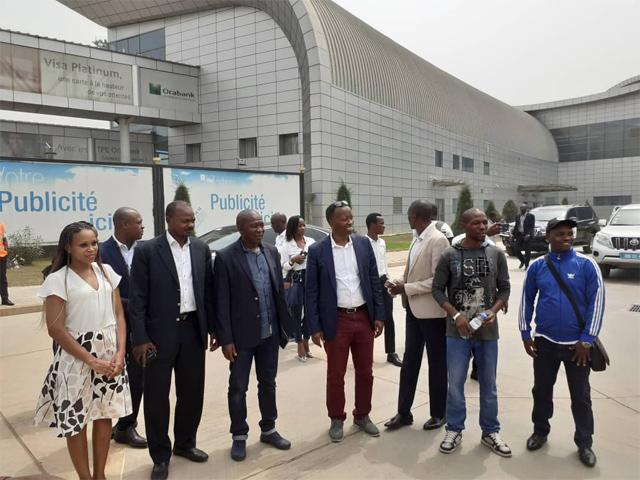 Arrivée de la délégation pour le judo à Lomé