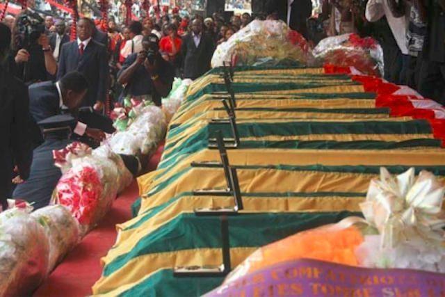 Dépouilles des victimes du Crash de Lungi | Archives : DR