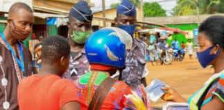 Covid-19 : contrôle de port de masque, Togo | Photo : DR/Togofirst