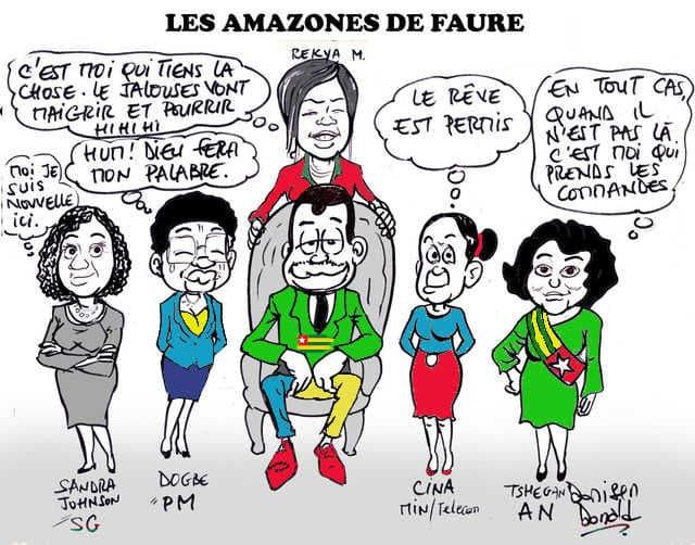 Colorié d'une caricature originale de Donisen Donald / Liberté