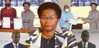 La PM Victoire Tomegah Dogbé alias « Da Bling-Bling Victo Vodou » | Infog : Fraternité